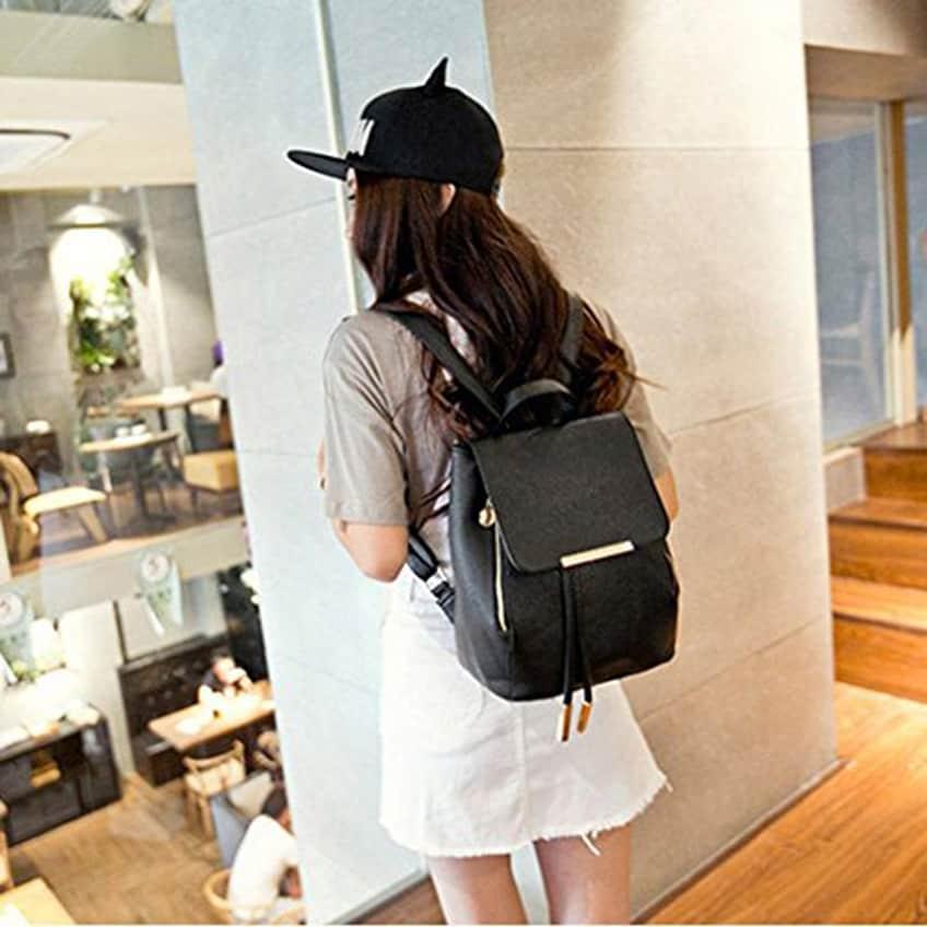 AMA(TM) Women Leather Shoulder Bag Travel Camping Backpacks Schoolbags