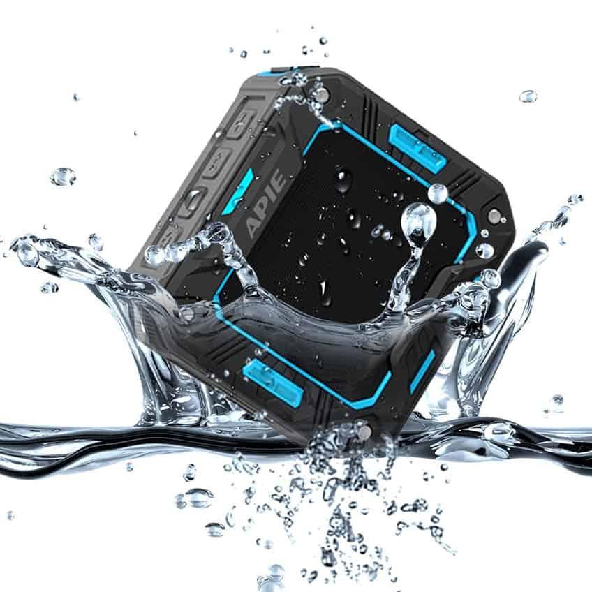 APIE Outdoor Bluetooth Speakers Portable Wireless Speakers (IP65 Water Resistant / Dustproof, 10 Hours Play Time, Built in Microphone)