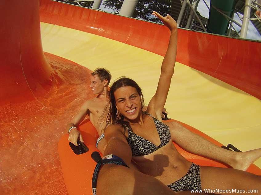 Bali Waterbom-orange slide
