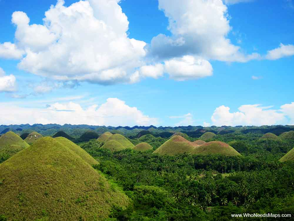 Chocolate Hills in Bohol-Philippines