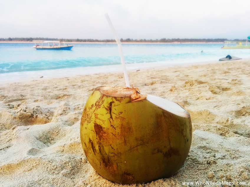 Coconut on the beach_lessons from traveling