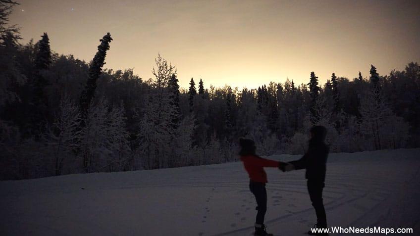 dusk pictures in alaska