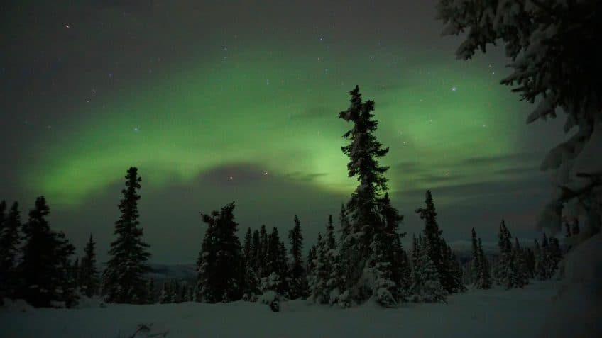 northern lights photography bright