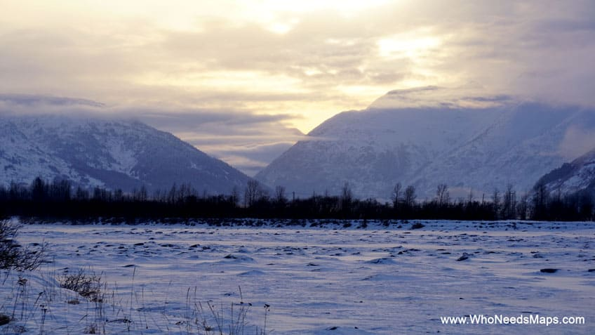 sunset pictures of alaska