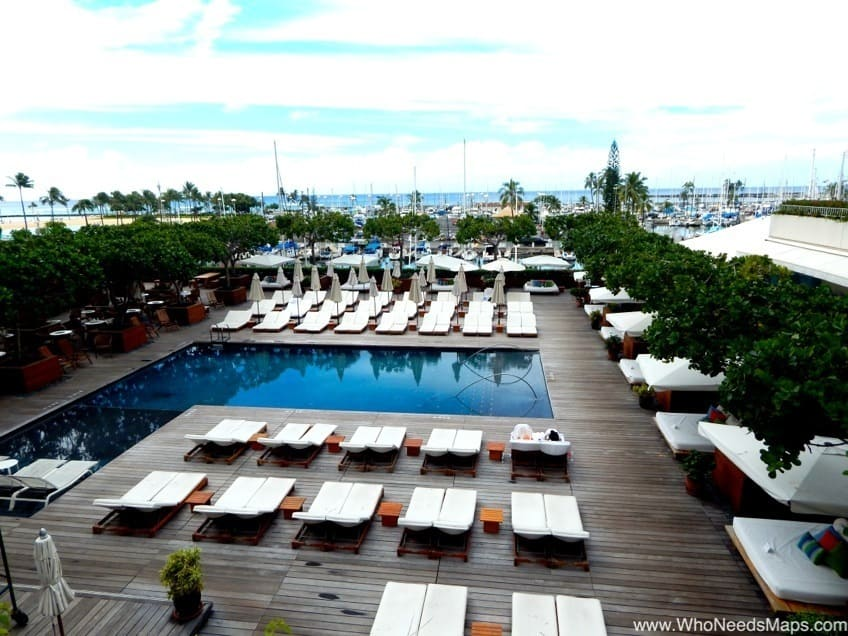 the modern honolulu hotel pool view