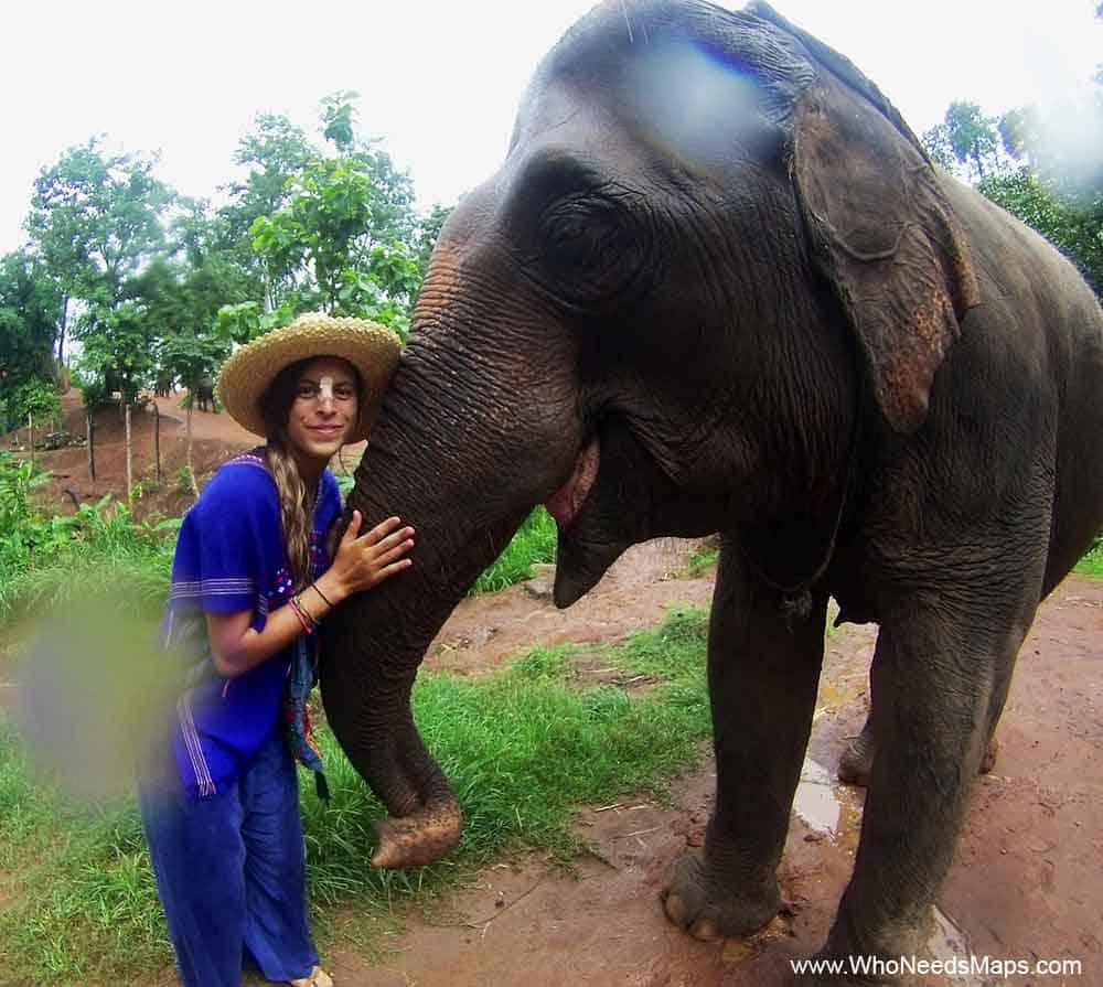 Jenn with Elephant | Chang Mai | Thailand Itinerary
