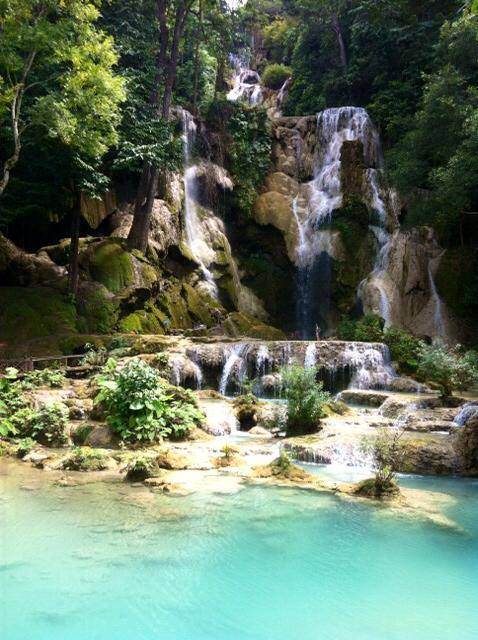 Places to travel abroad - Kuang Si Waterfalls