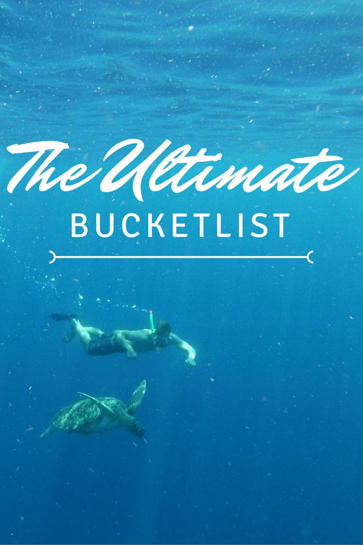 bucket list banner