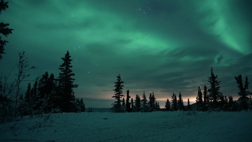 northern lights photography ISO
