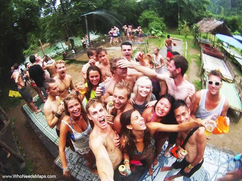 Tubing Party-Top Party Destinations In Southeast Asia