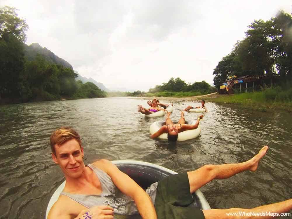 Tubing - Nam Song River - Top Party Destinations In Southeast Asia
