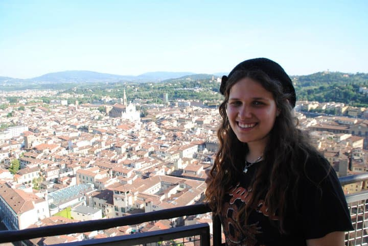 Ashley in Florence at the Duomo