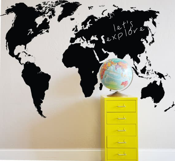 World Chalkboard Map_Gift Ideas for Travelers