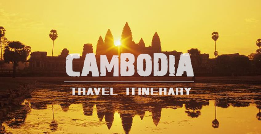 backpacking cambodia travel itinerary banner