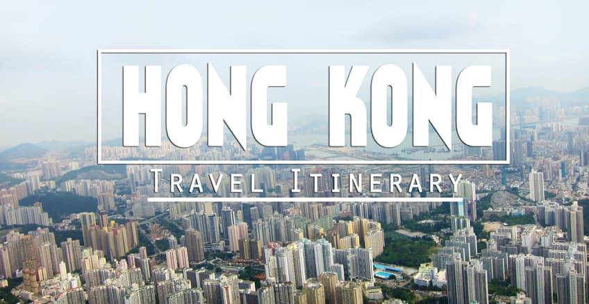 backpacking hong kong itinerary