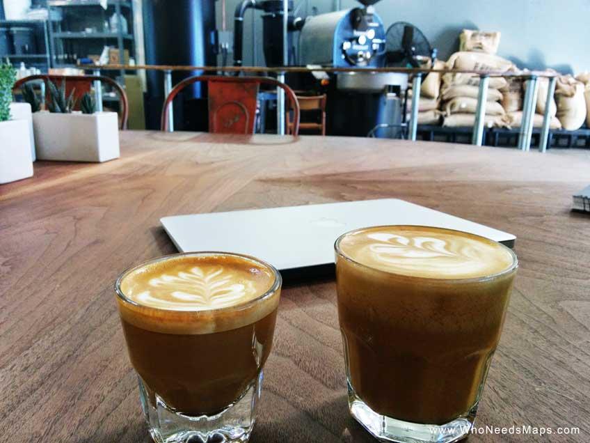 Los Angeles coffee shops bar nine