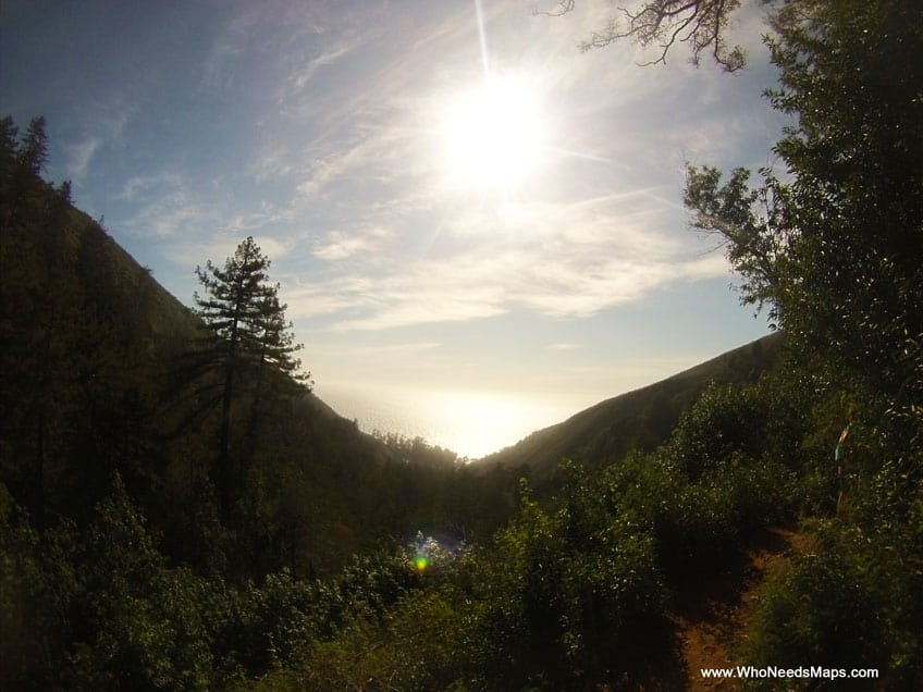 big sur city guide hiking view