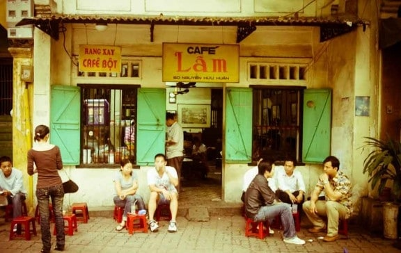 Lam cafe best coffee in Hanoi Vietnam