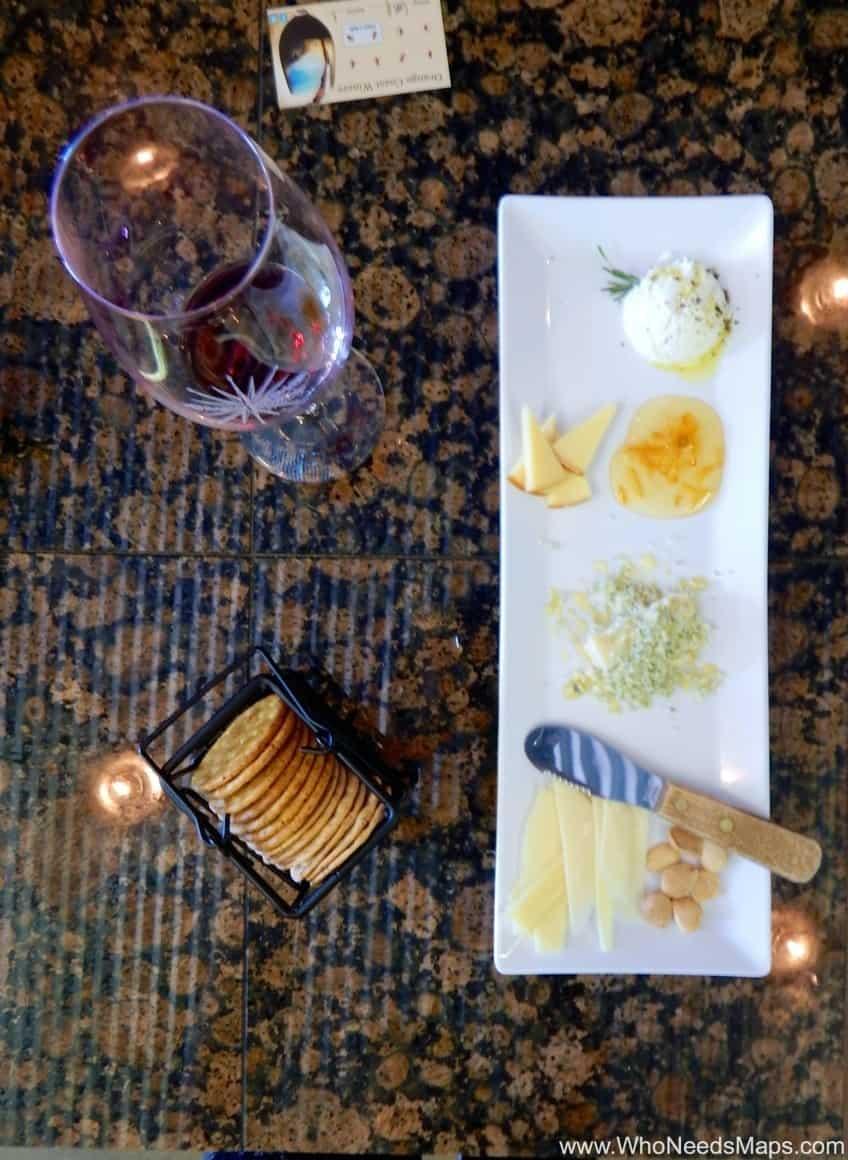 cheese plate Orange Coast Winery