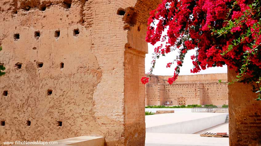 explore marrakech flower ruins