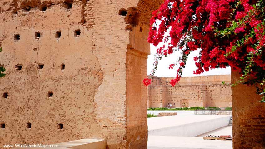 explore marrakech flower ruins