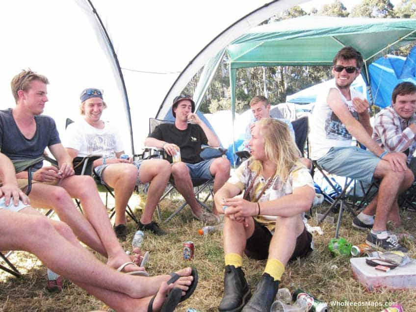 Music Festival Survival Guide - fold out chairs