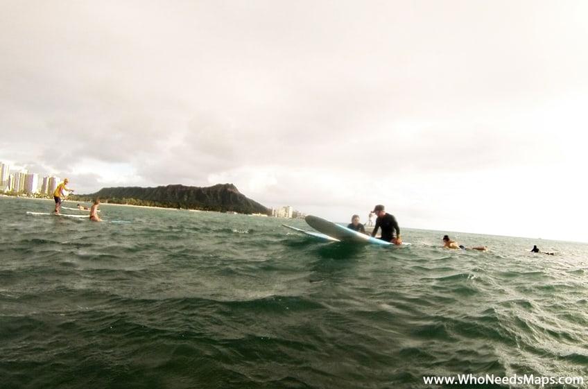 gone surfing hawaii in water