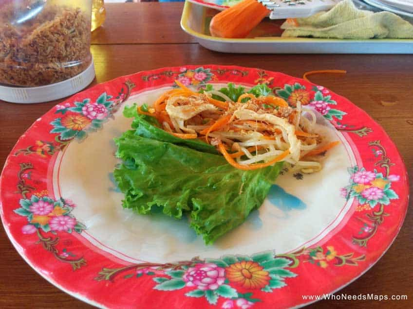 vietnamese cooking class wrap