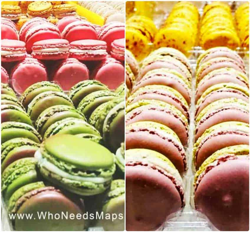 Paris Food Tour macaroons-collage
