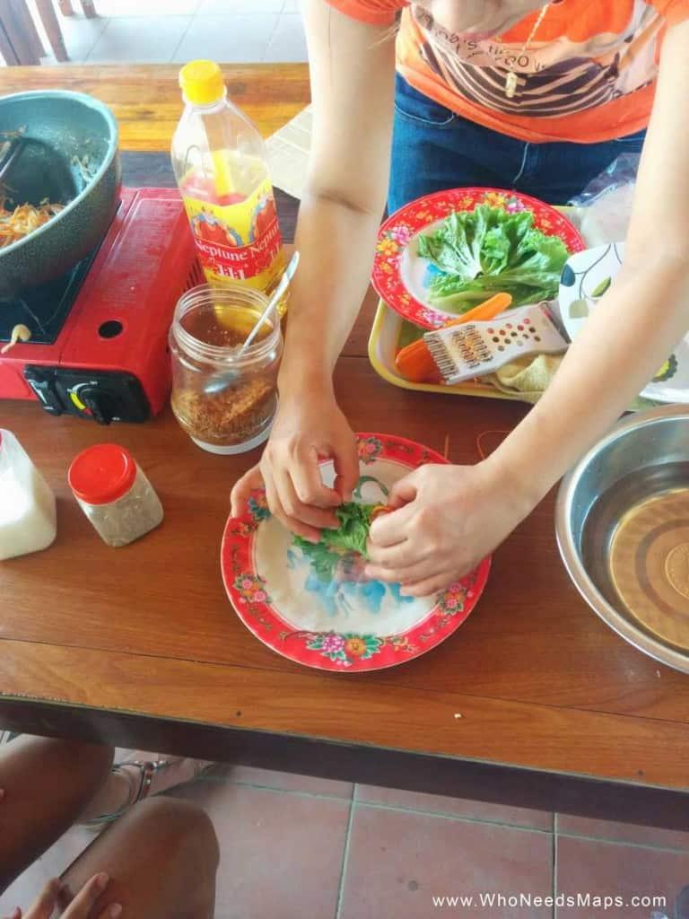 vietnamese cooking class roll