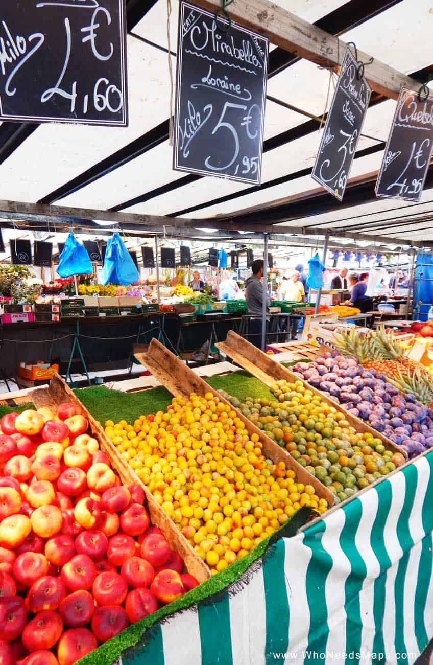 Paris Food Tour mirabelle-market