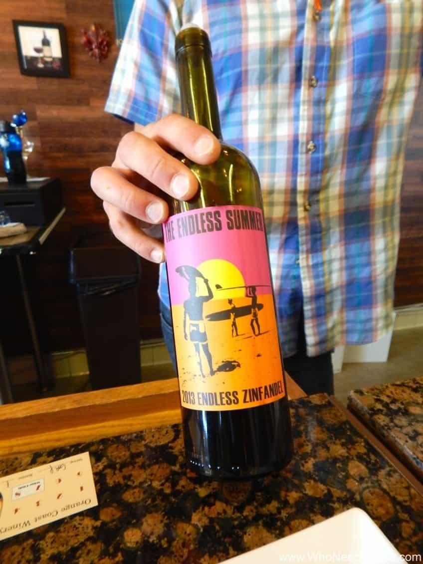 red wine Orange Coast Winery