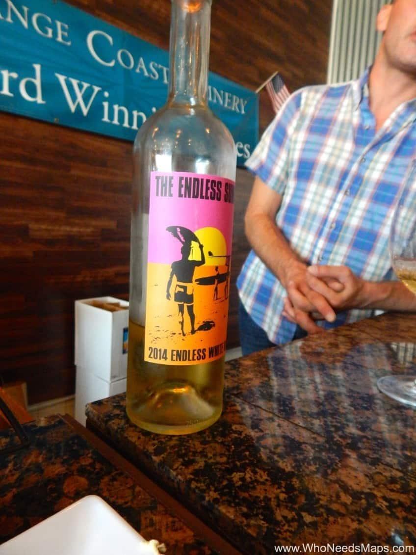 white wine Orange Coast Winery