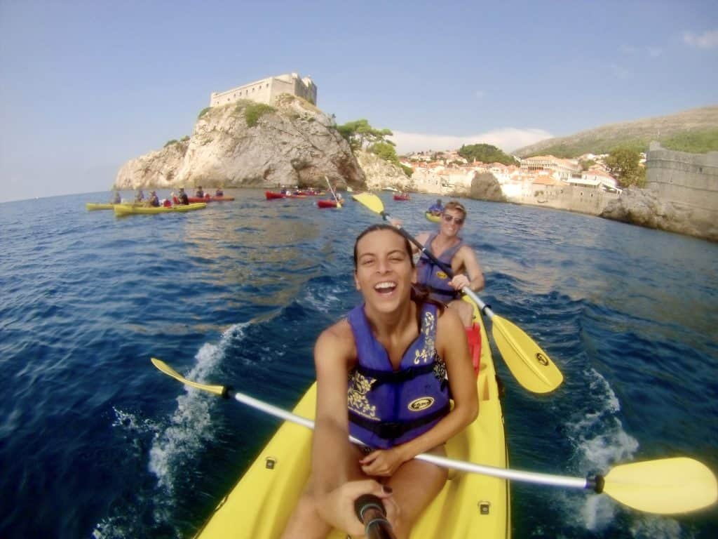 staying fit while traveling kayaking croatia